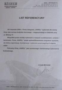 Referencje MEIE Firma budowlana Barzowski.pl