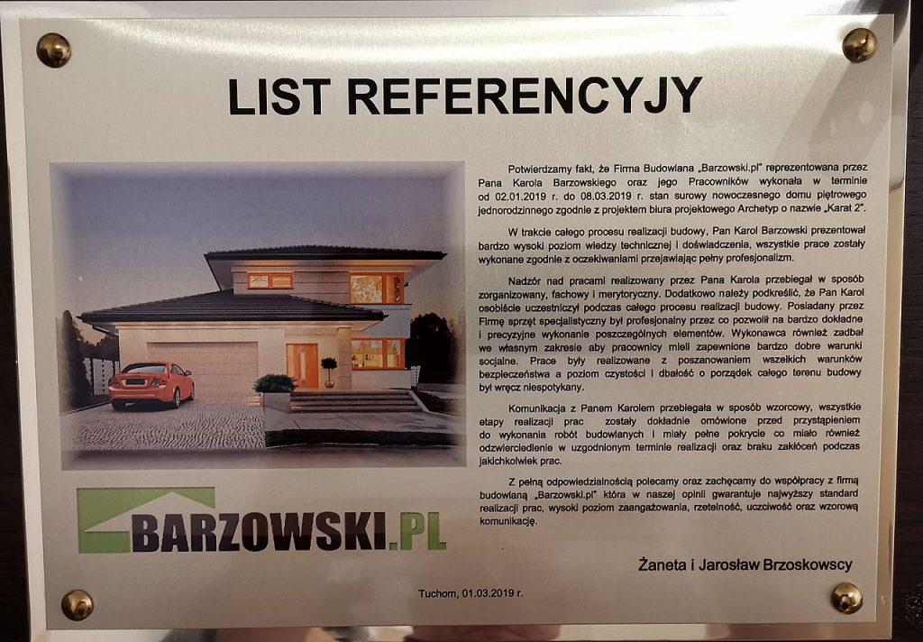 Referencja Barzowski_pl Budowa Tuchom 2019