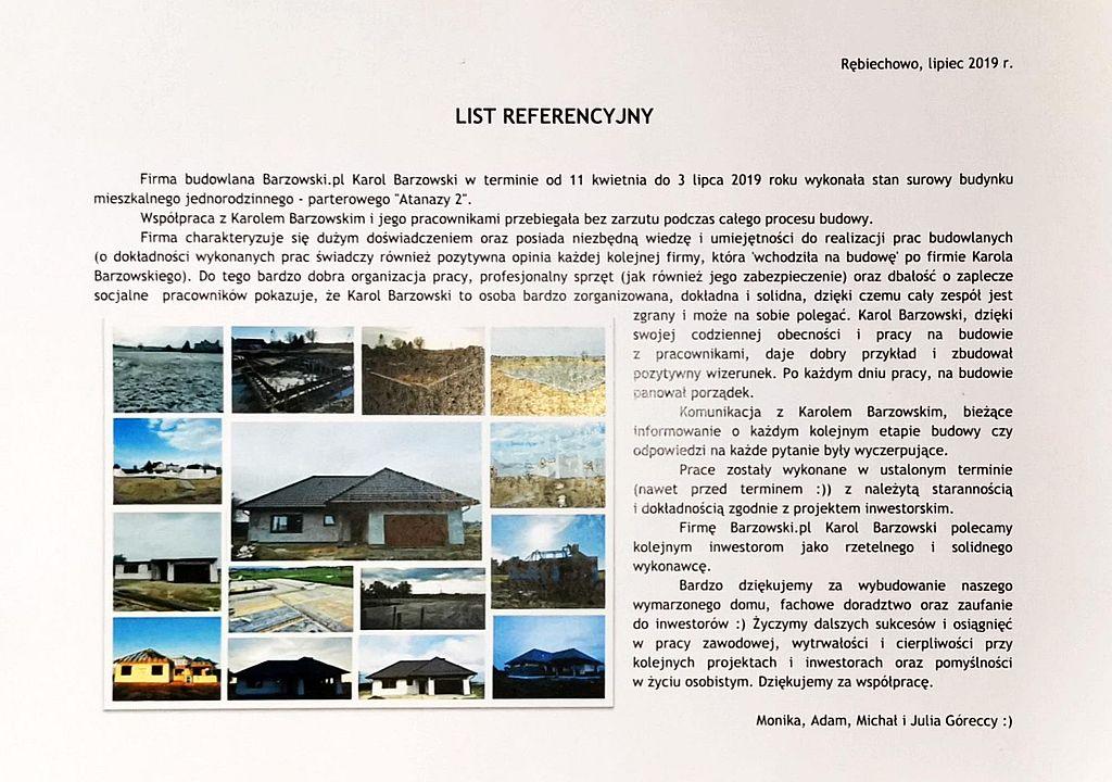 Barzowski.pl Referencje Opinie Góreccy 00