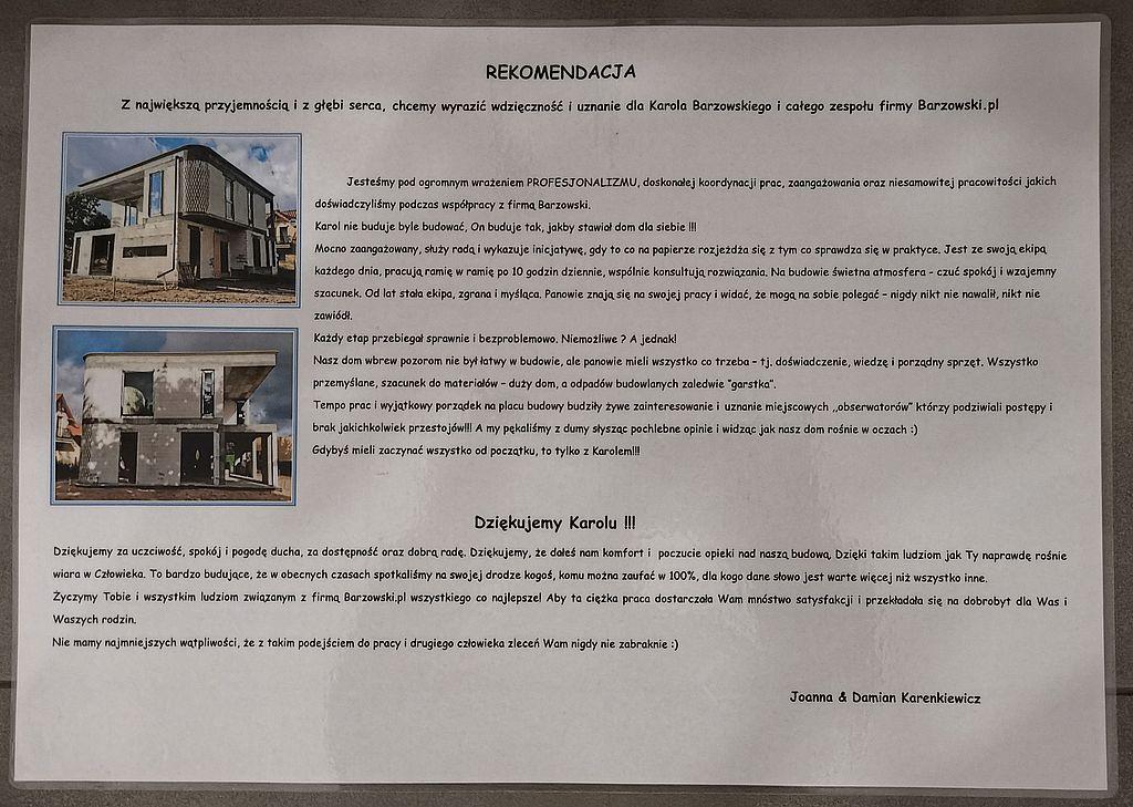 Firma Budowlana Barzowski pl Rekomendacja Dom w Gdyni Pustkach Cisowskich lato 2020